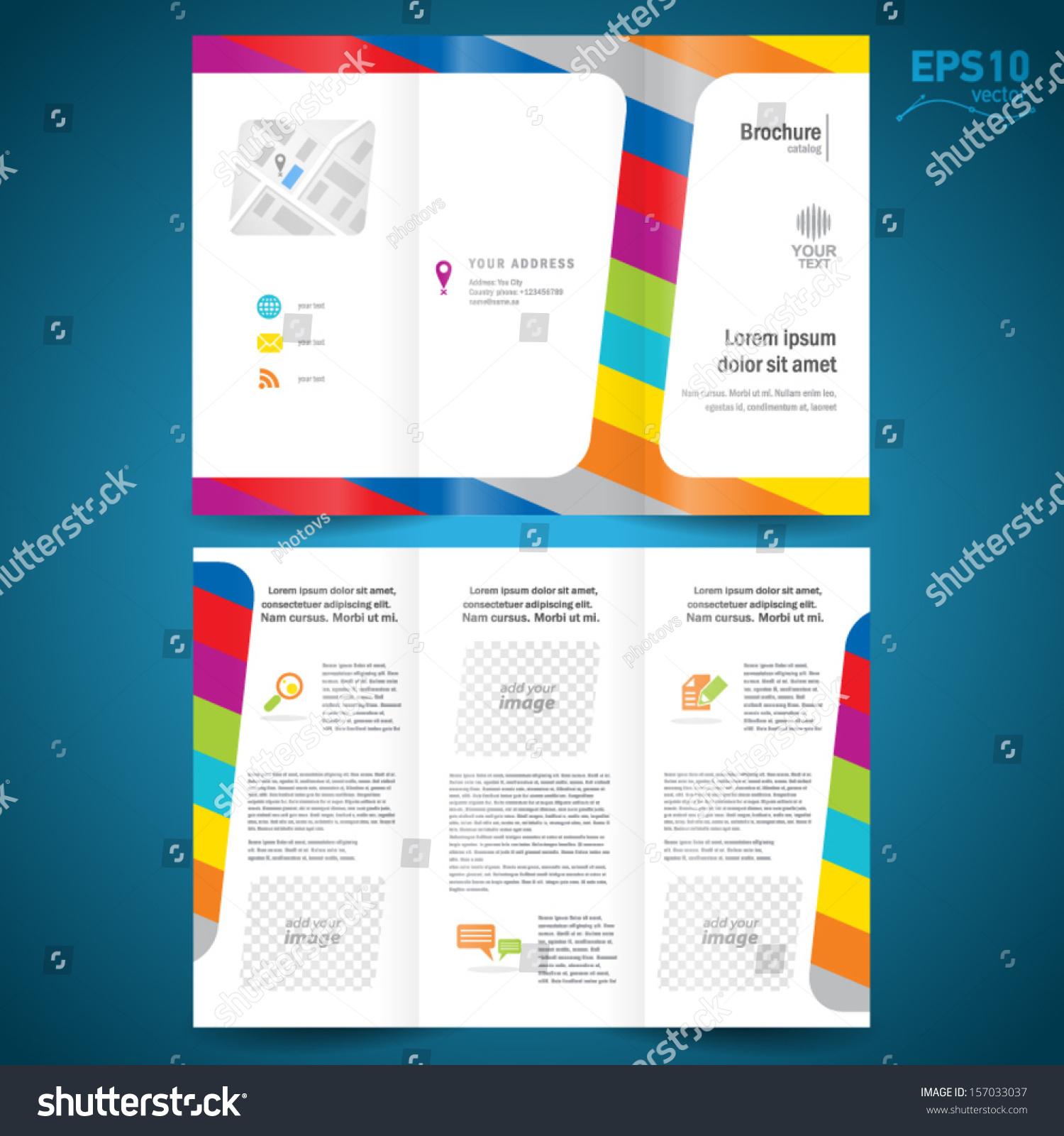 brochure design template vector folder leaflet stock