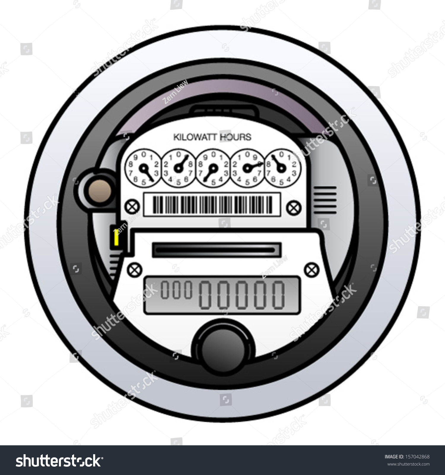 Household Energy Meter : A household electricity power meter stock vector