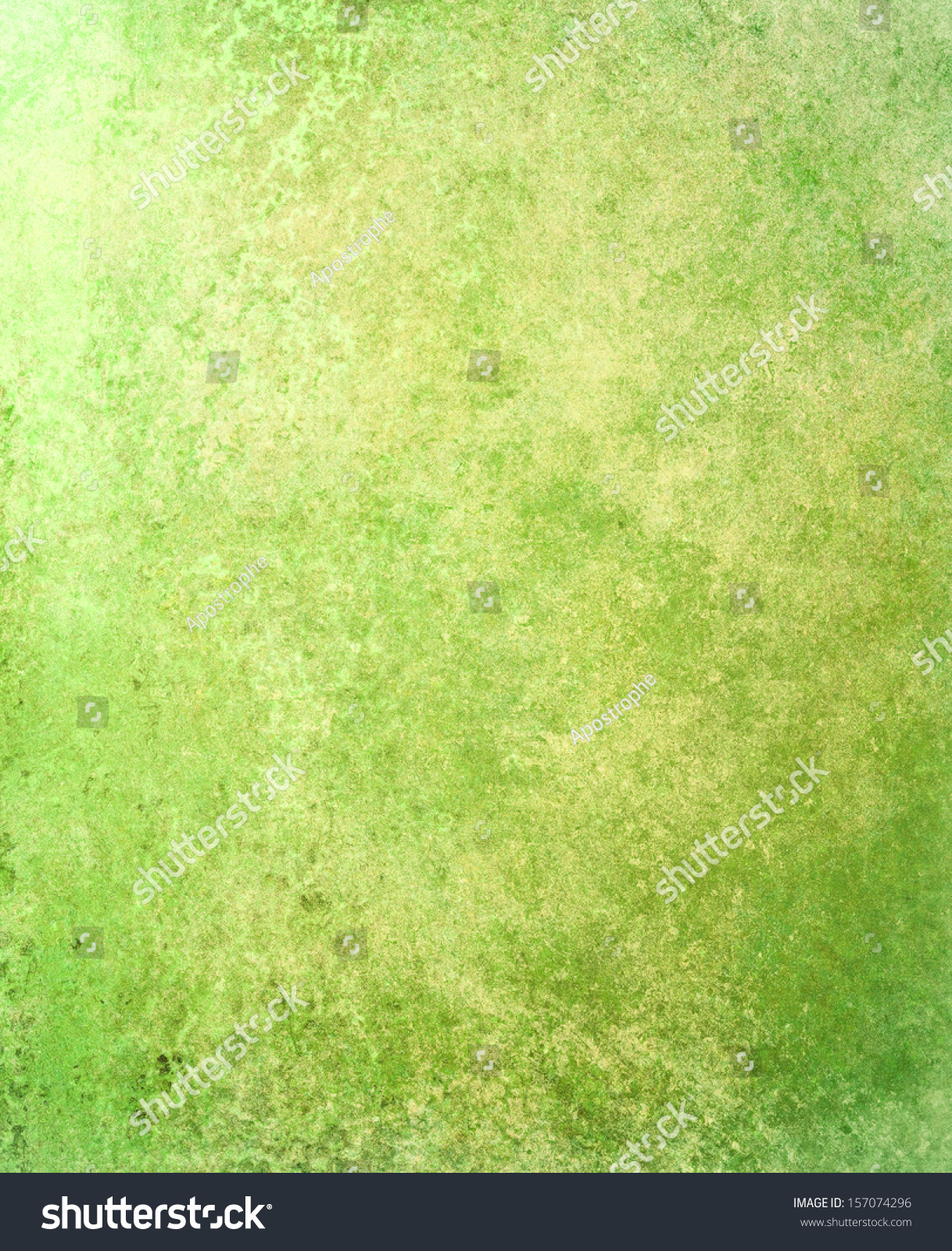 Abstract Green Background Faded Yellow Gold Stock Illustration ...