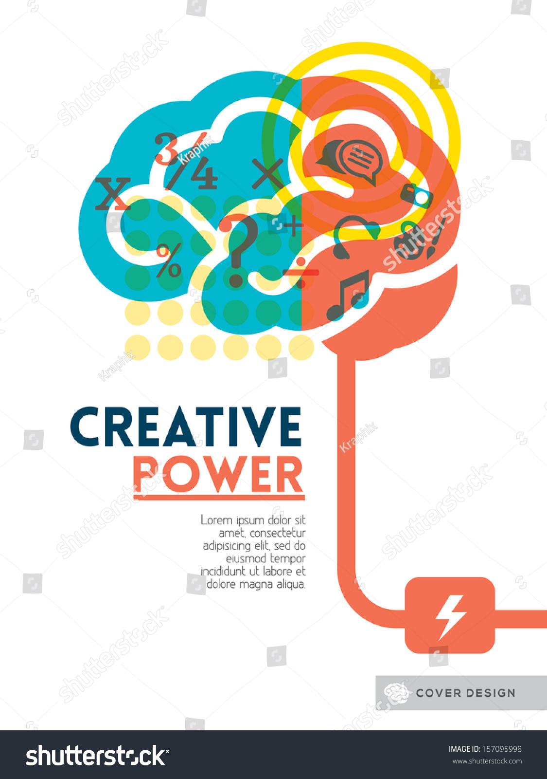 Creative Brain Idea Concept Background Design Stock Vector ...