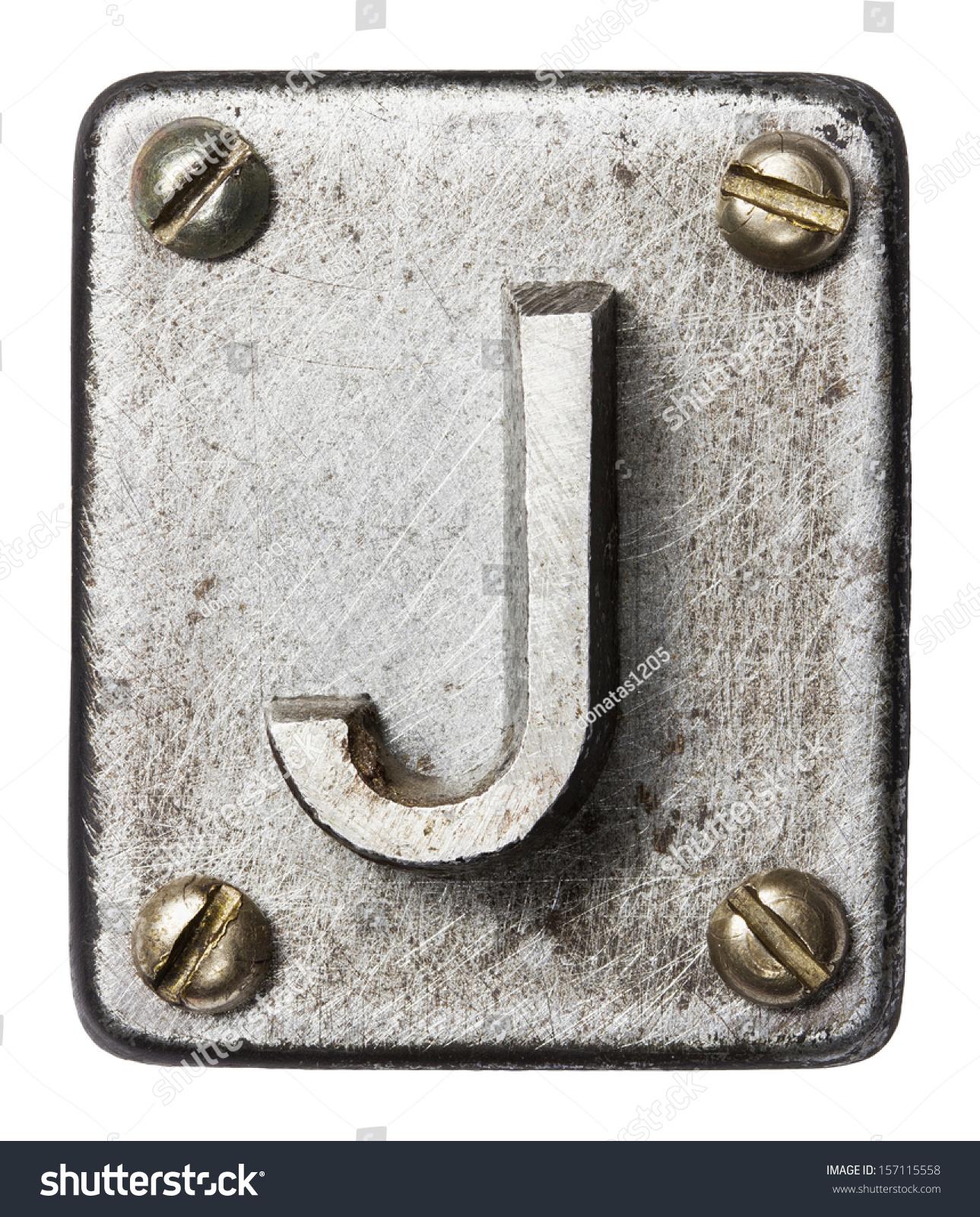 Old Metal Alphabet Letter J Stock Shutterstock