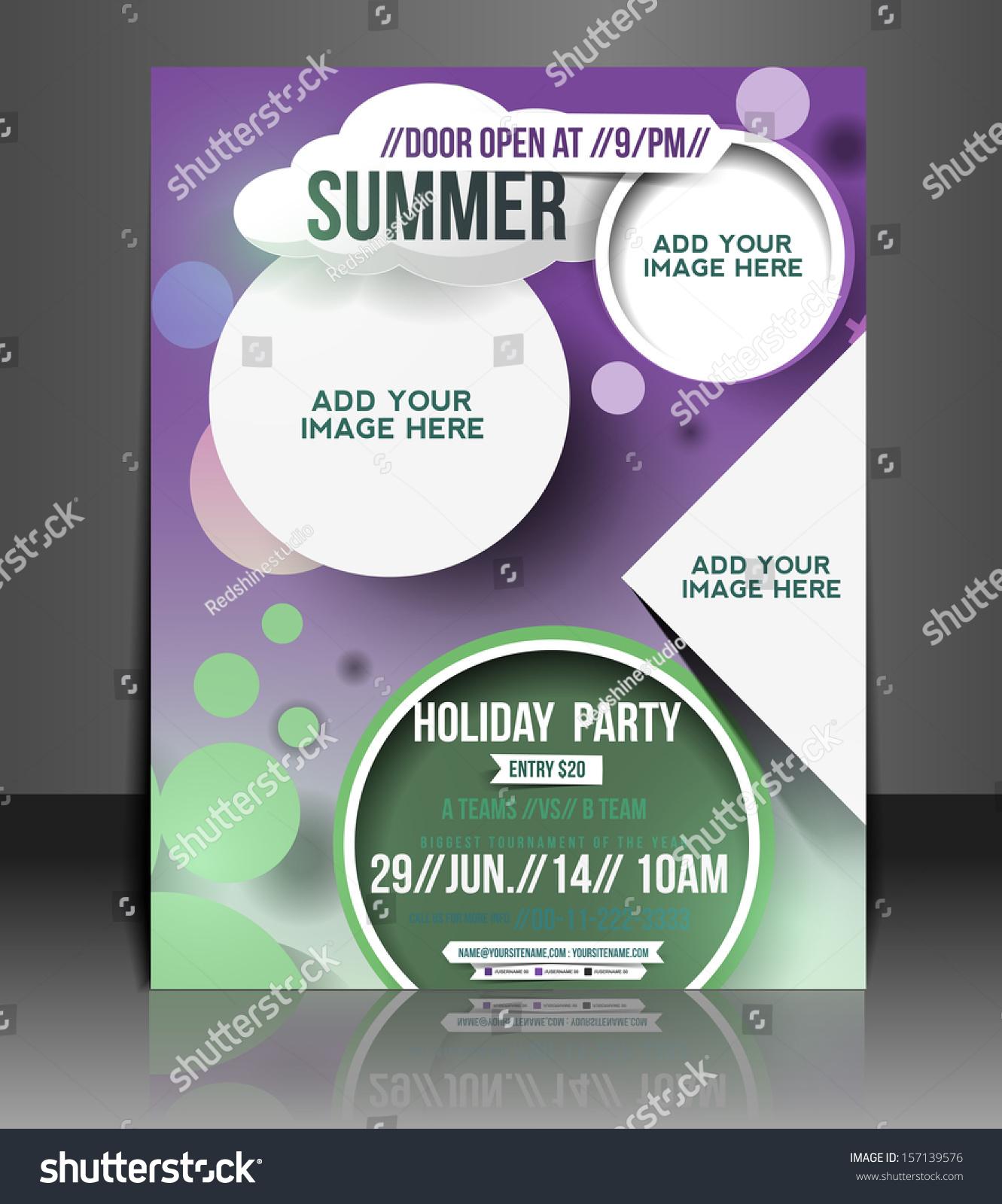 Vector Brochure Flyer Magazine: Vector Summer Vacation Brochure, Flyer, Magazine Cover