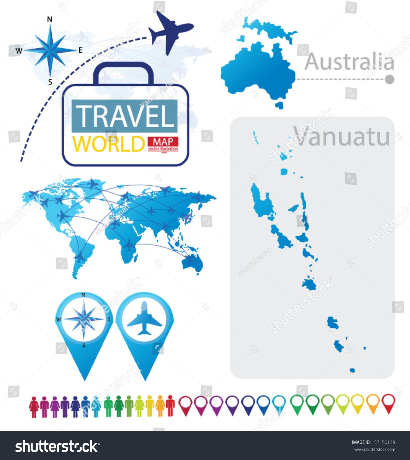 Republic vanuatu australia world map travel vectores en stock republic of vanuatu australia world map travel vector illustration gumiabroncs Image collections