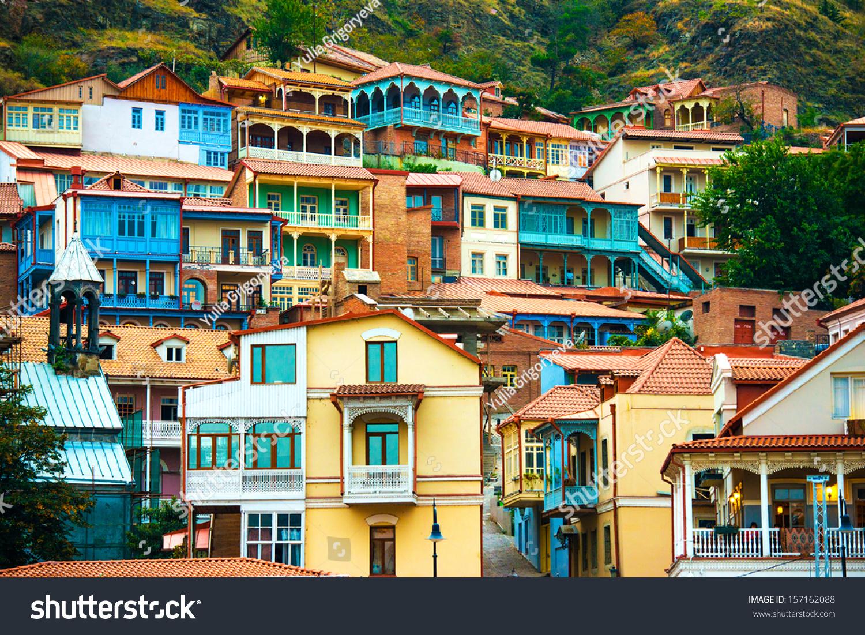 Tbilisi Tskneti Mountain Villa Tbilisi City Georgia: View Tbilisi Old Town Sololaki Stock Photo 157162088