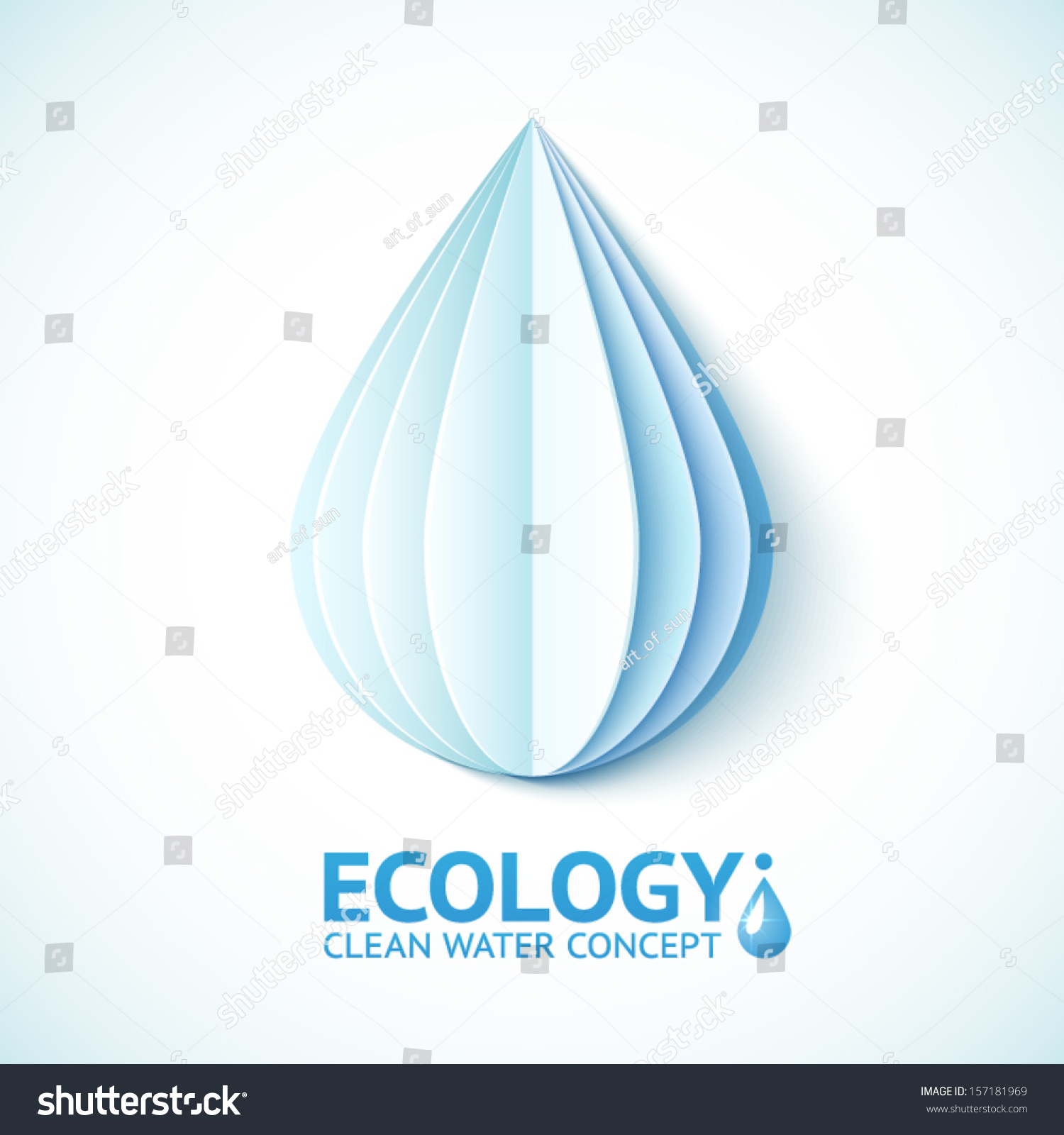 White Vector Paper Water Drop Origami Stock Vector ... - photo#9