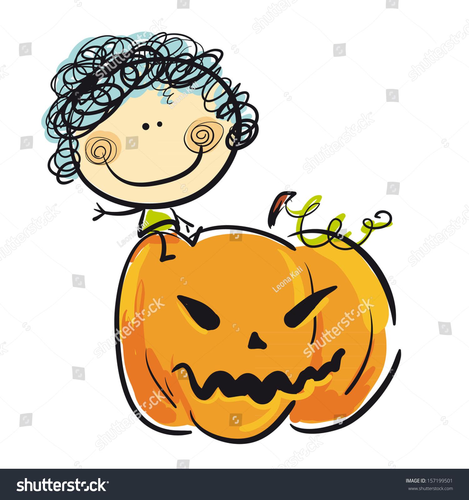 Vector Stock - Big pumpkin. Clipart Illustration gg58265596 - GoGraph