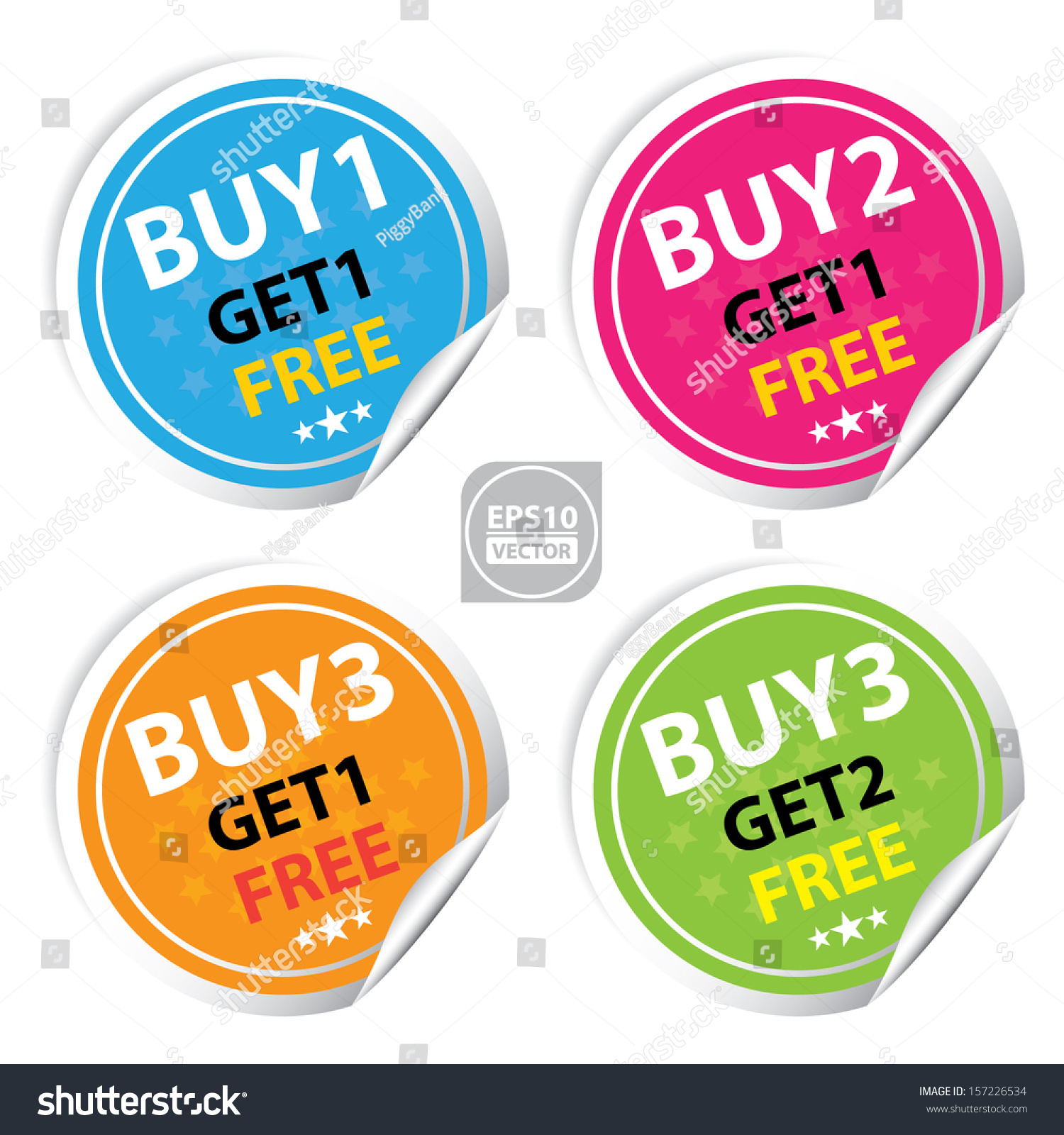 How To Buy Stocks For Free Vector Sticker Or Label For Marketing Campaign  Buy 1
