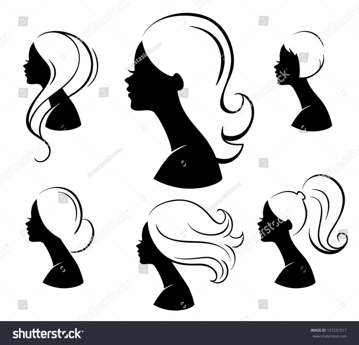free clipart hairstyles - photo #38