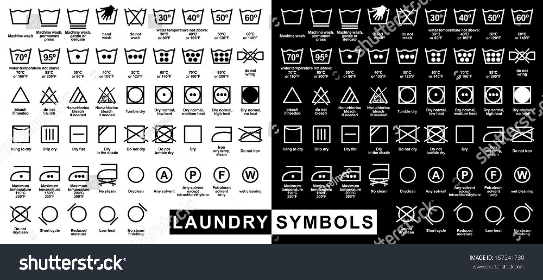 universal washing machine symbols