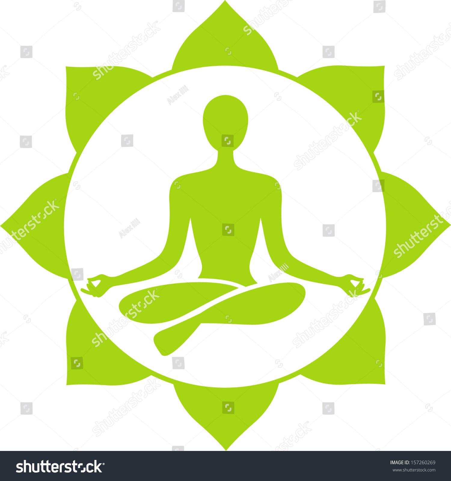 Yoga Symbol Stock Vector 157260269 - Shutterstock