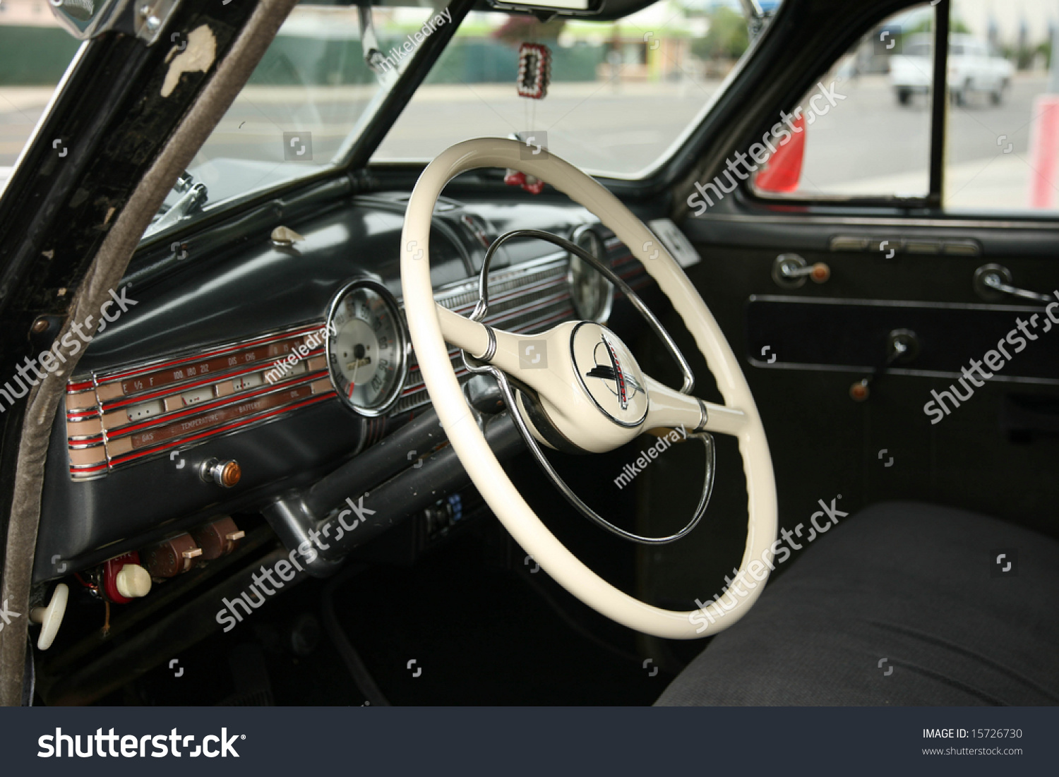 1941 chevy super delux antique car interior stock photo 15726730 shutterstock. Black Bedroom Furniture Sets. Home Design Ideas