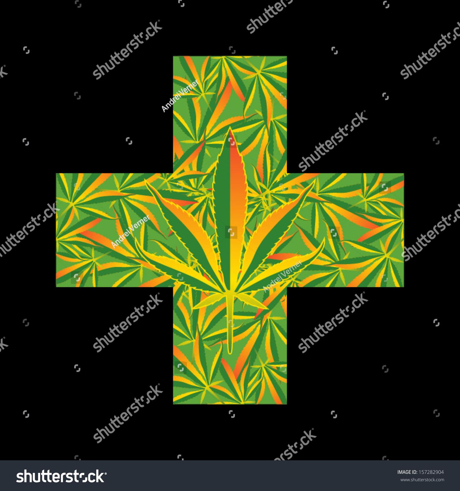 Medical marijuana leaf cross symbol vector stock vector 157282904 medical marijuana leaf cross symbol vector illustration biocorpaavc