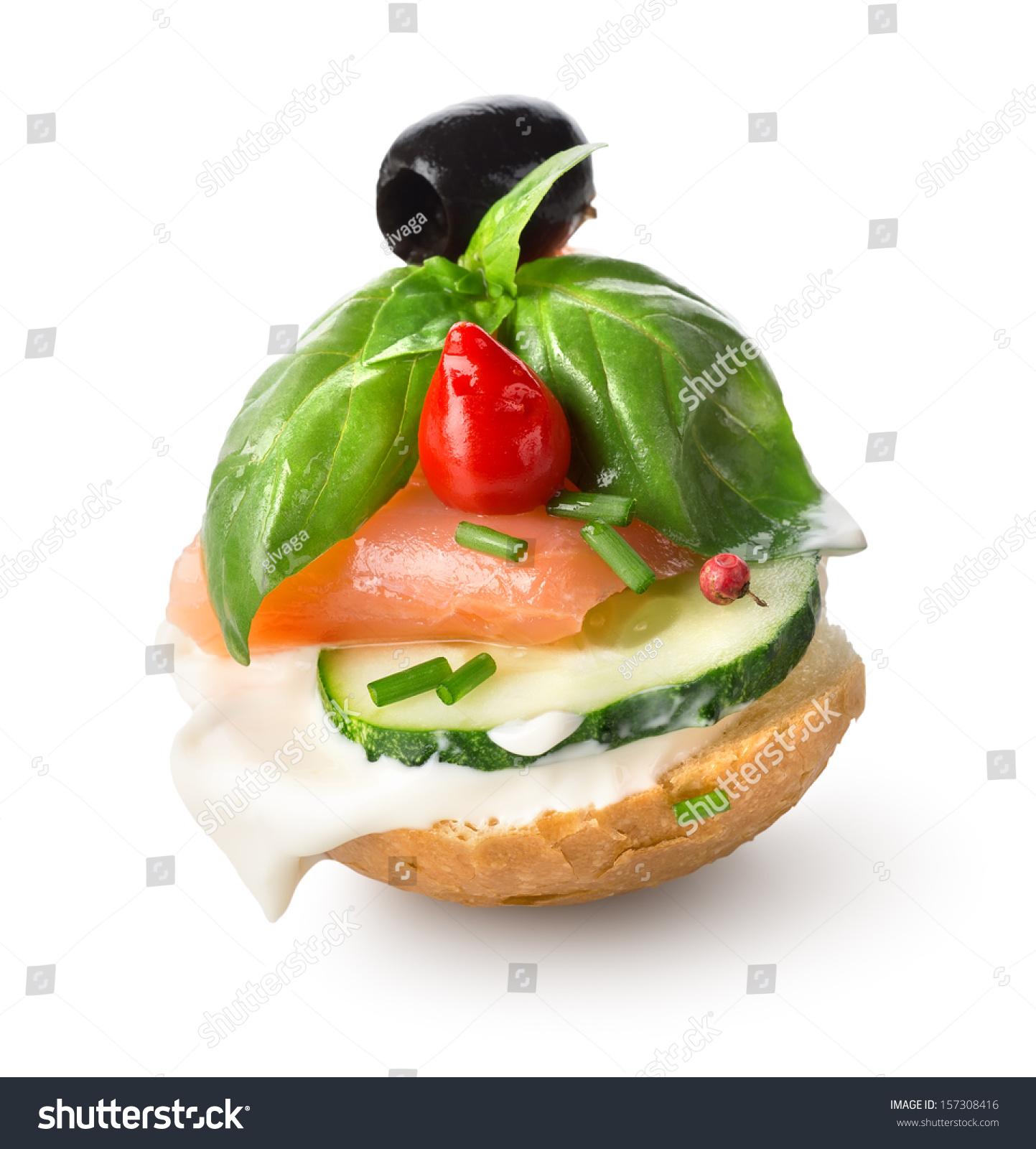 Canape bread and black pepper