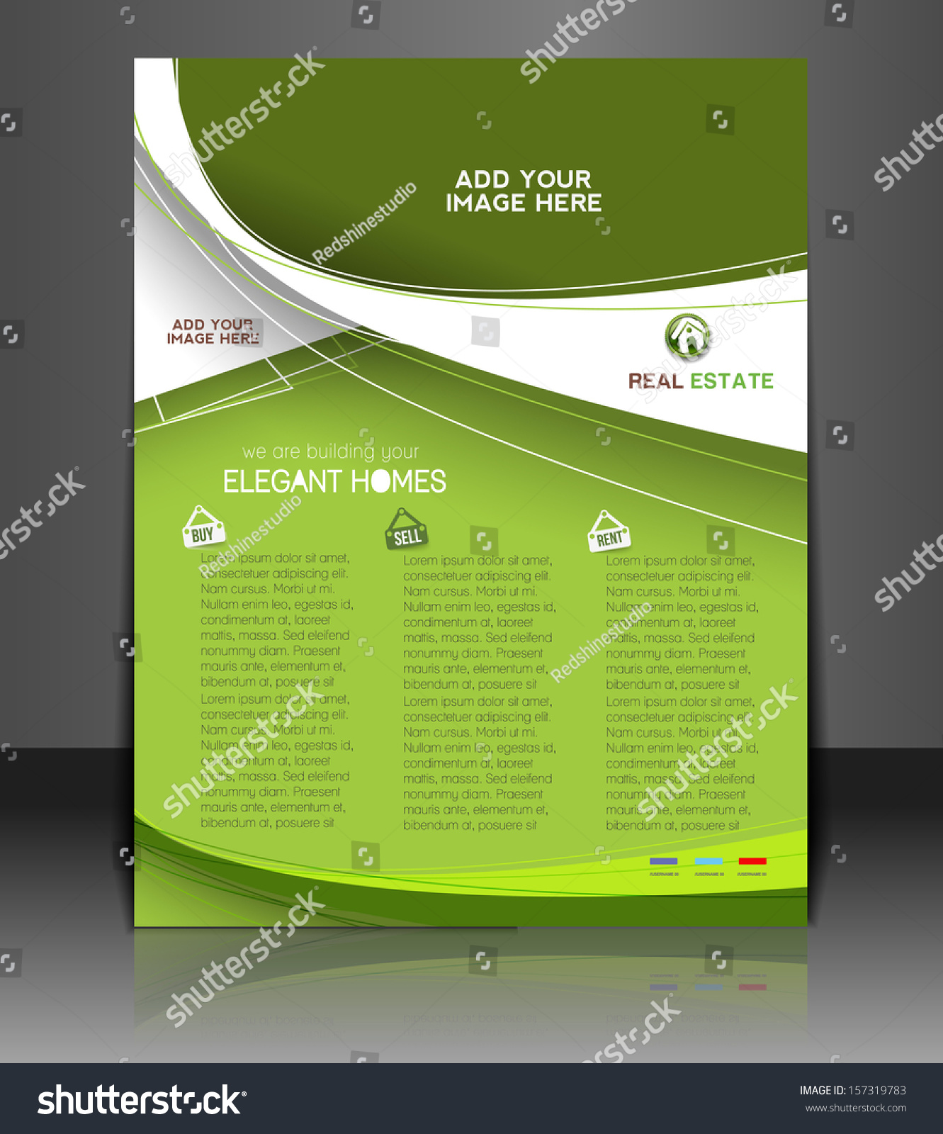 vector real estate agent flyer poster stock vector  vector real estate agent flyer poster template