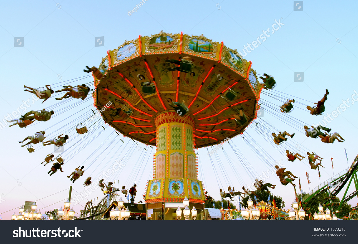 Have Ride On Merrygoround Dawn Stock Photo (Edit Now) 1573216 ...