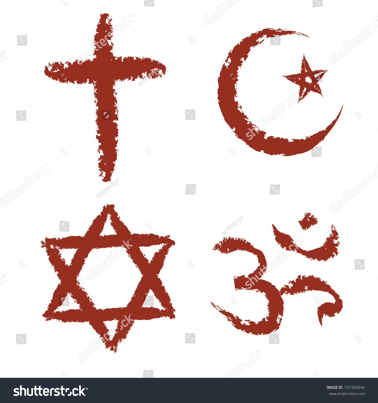 Royalty Free Christian Islam Judaism And Hinduism 157333544