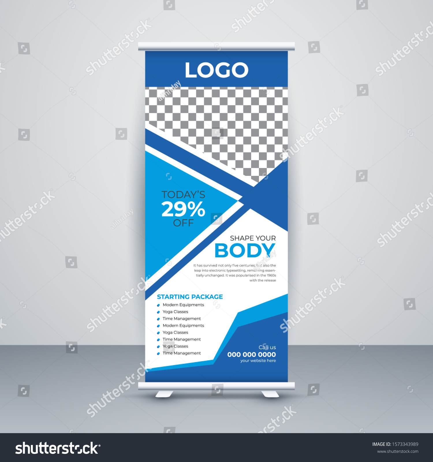 Creative Fitness Roll Sale Banner Design Stock Vector Royalty Free 1573343989