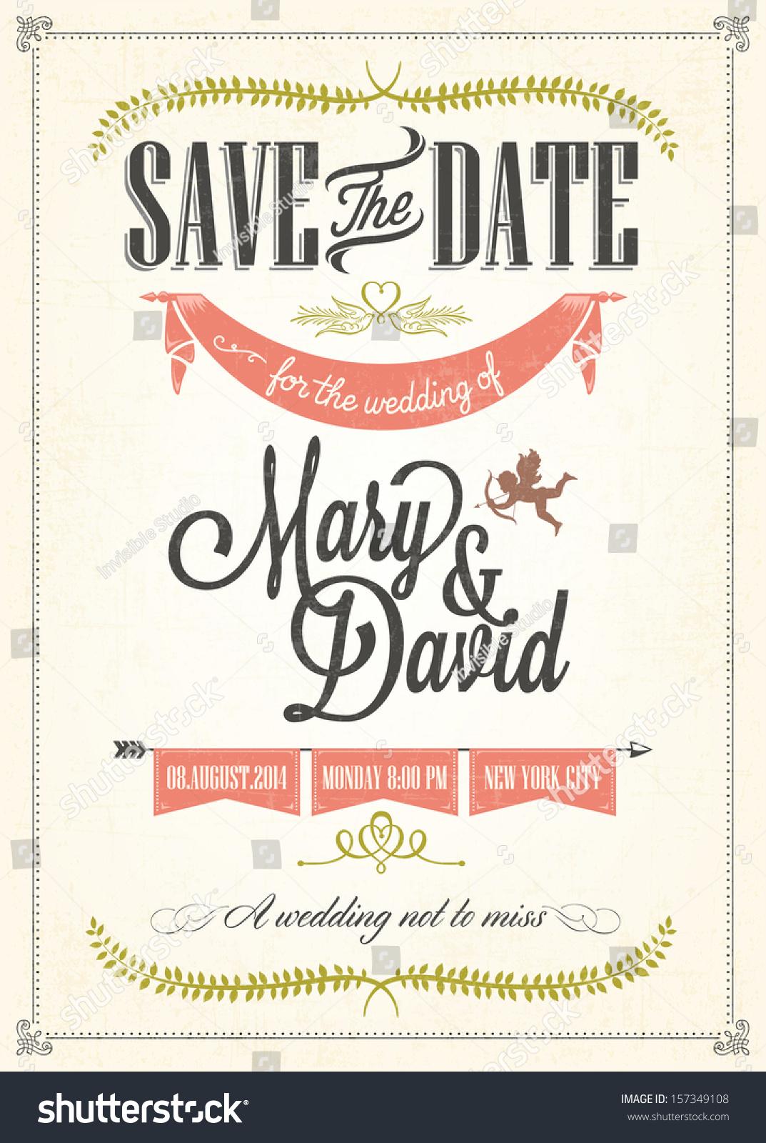 Christian Wedding Invitation Wording 35 Amazing Save the date wedding
