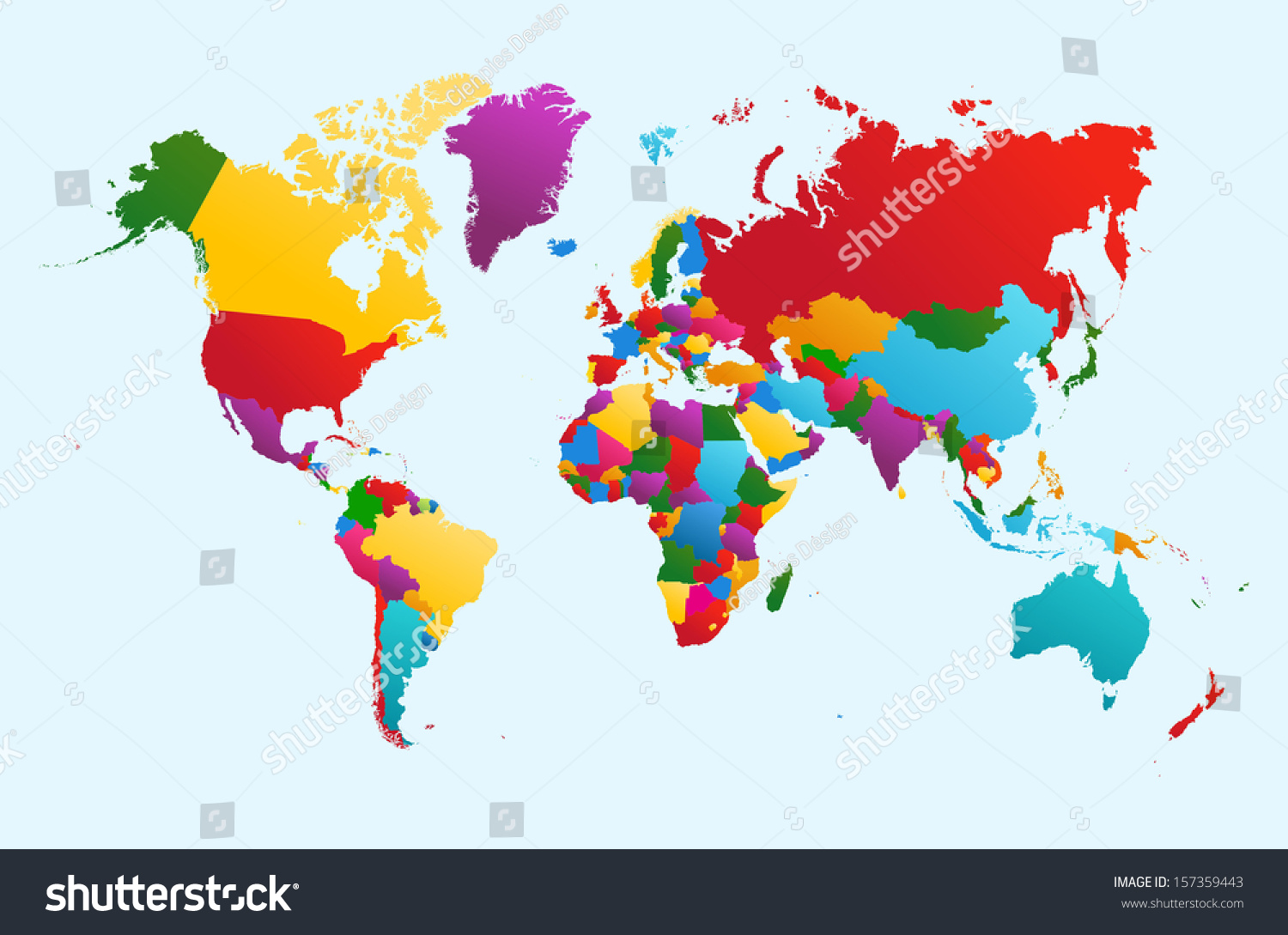 Map clipart easy world map decal etsy mapsherpa cosmographics world map colorful countries atlas eps stock vector easy world map gumiabroncs Gallery