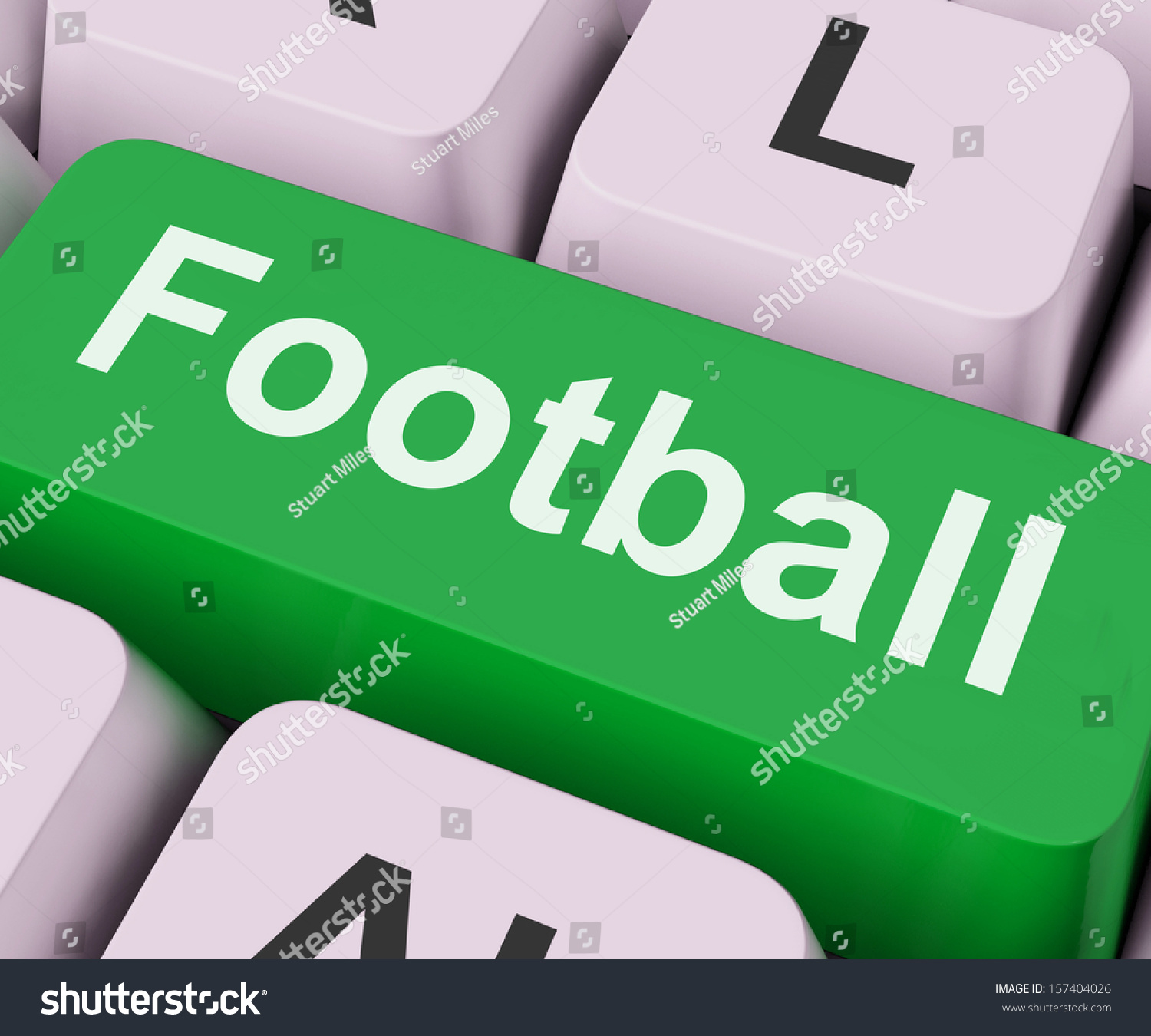 Football key on keyboard meaning american stock illustration football key on keyboard meaning american rugby or soccer biocorpaavc Image collections