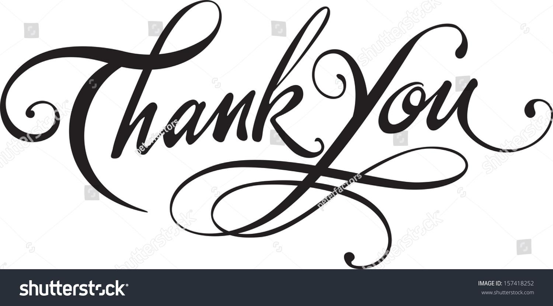 thank you stock vector shutterstock thank you
