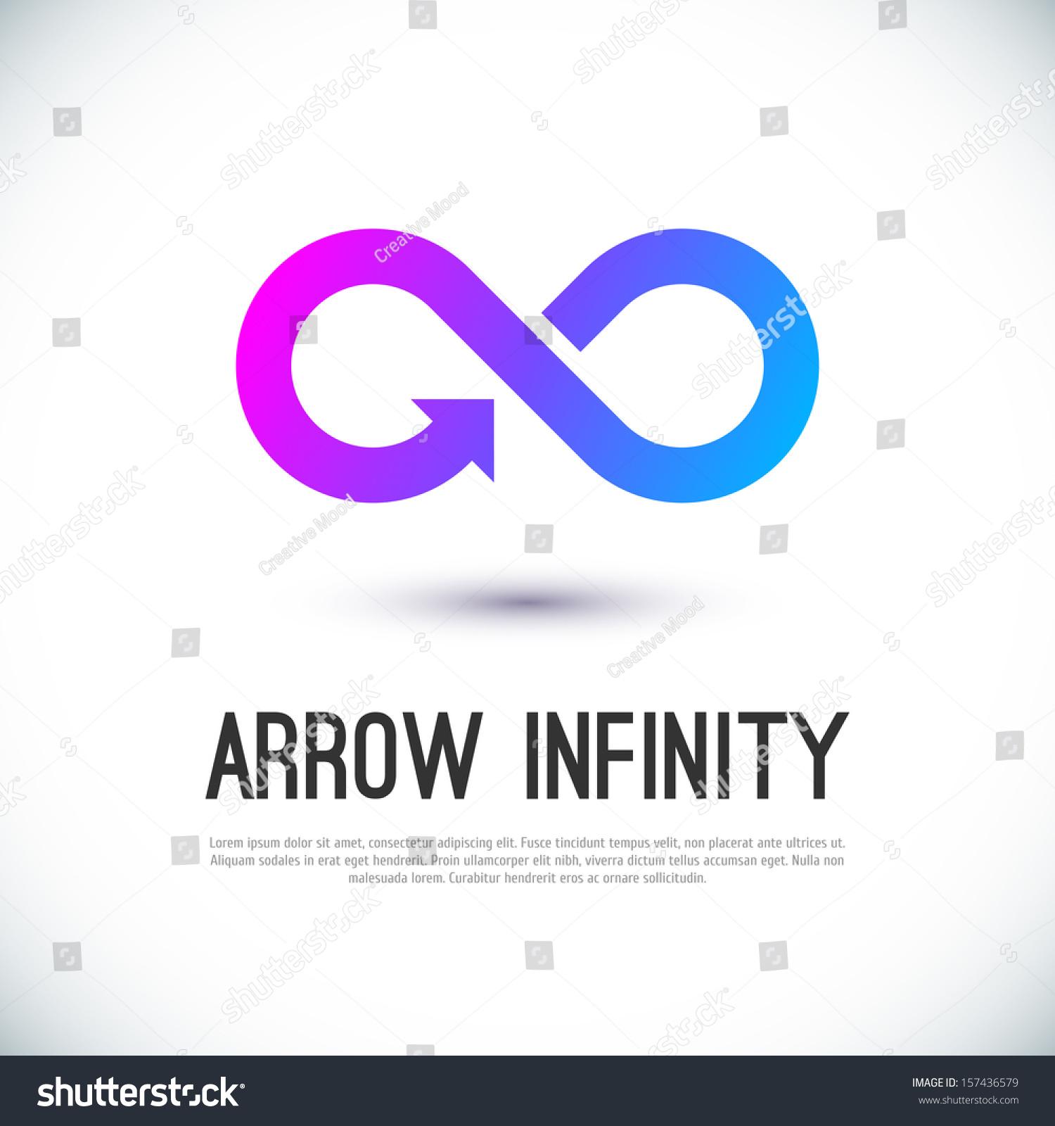 Vector graphic design business logo - Arrow Infinity Business Vector Logo Design Template For Your Design