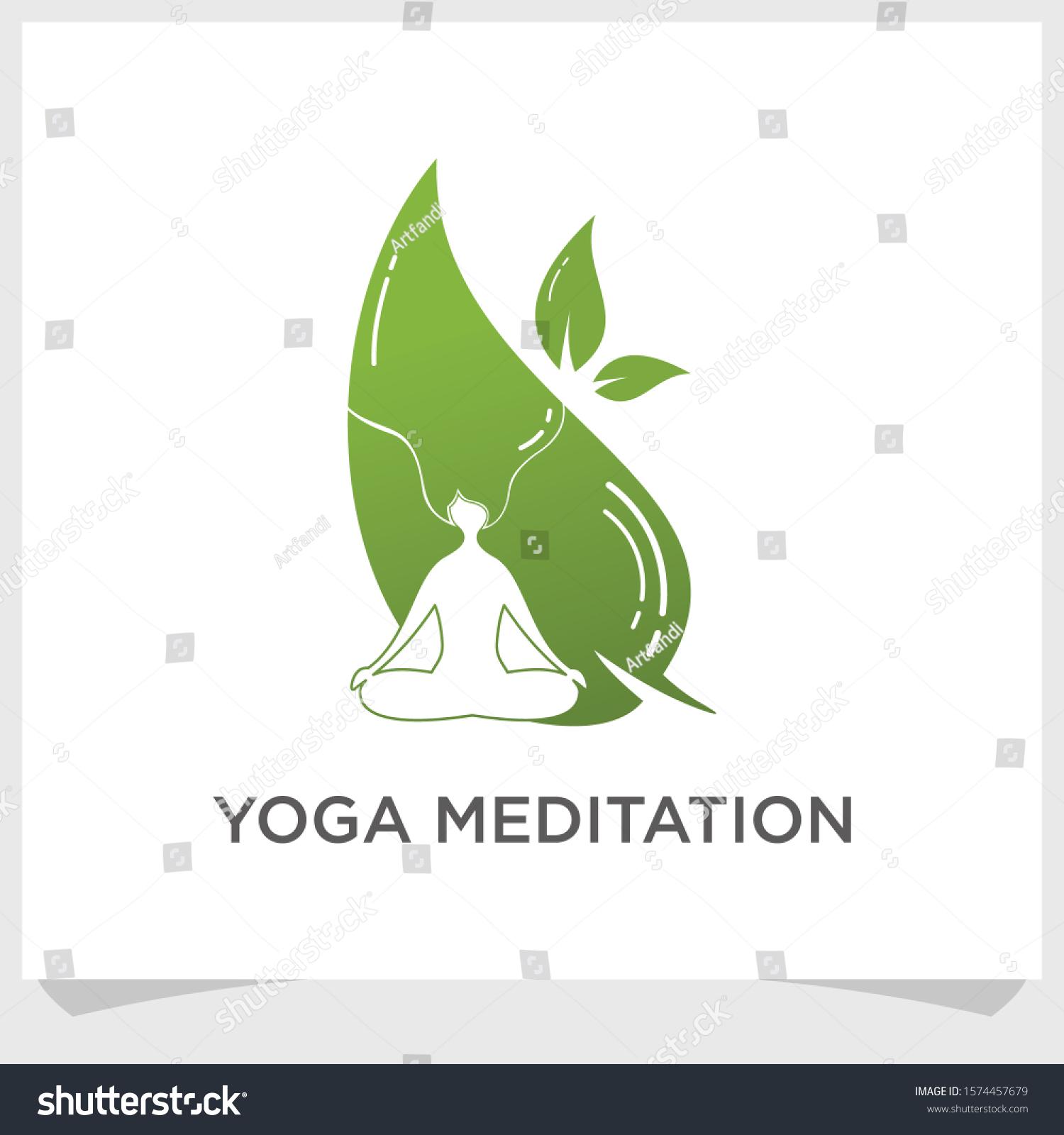 yoga meditation logo design inspiration spa stock vector royalty free 1574457679 https www shutterstock com image vector yoga meditation logo design inspiration spa 1574457679