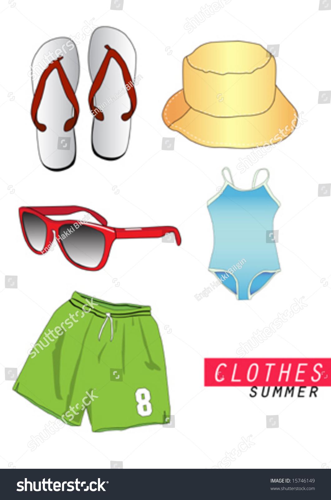 Vector Summer Clothes Stock Vector 15746149 - Shutterstock