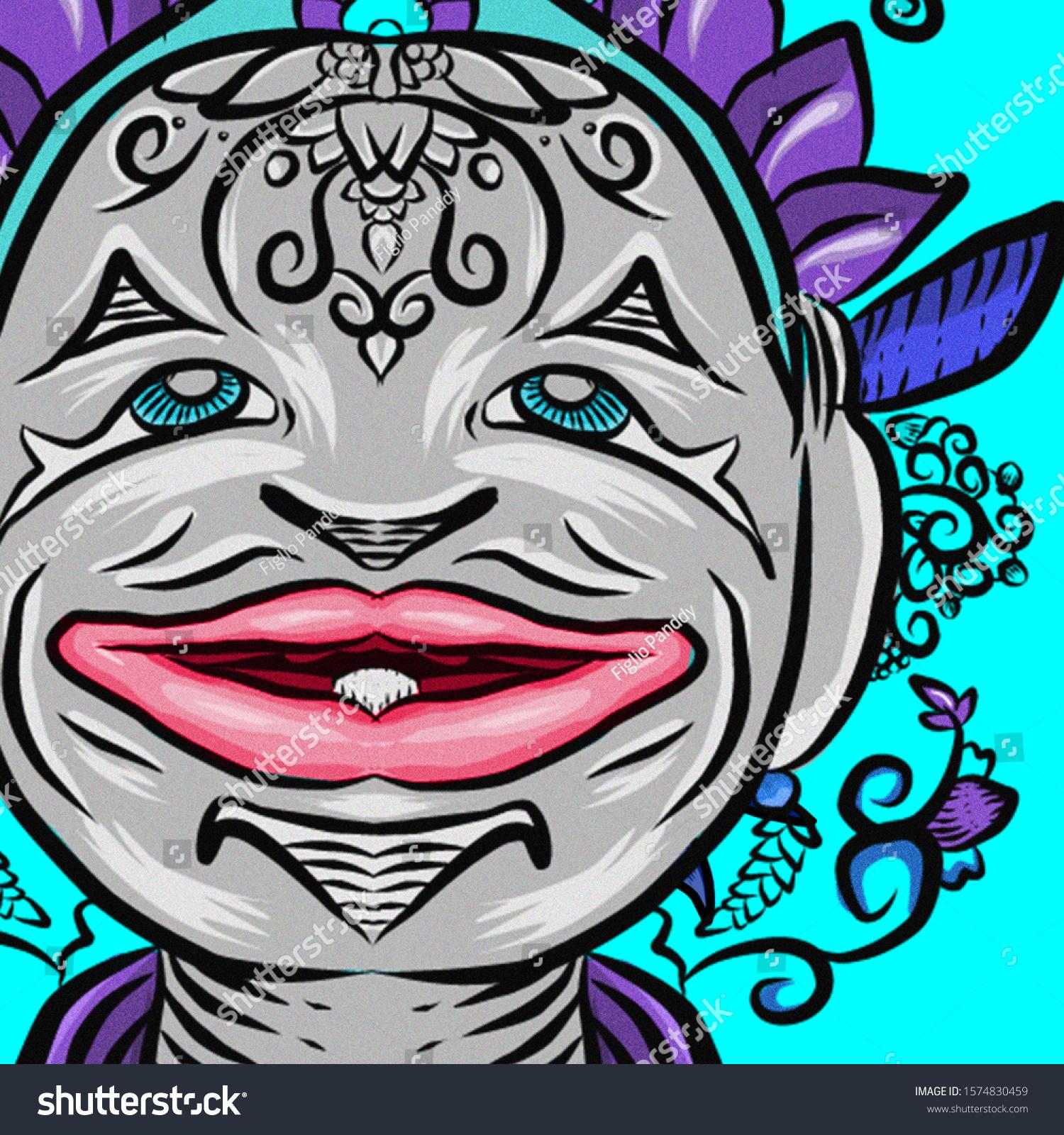 characteristics wayang golek semar native west stock illustration 1574830459 https www shutterstock com image illustration characteristics wayang golek semar native west 1574830459