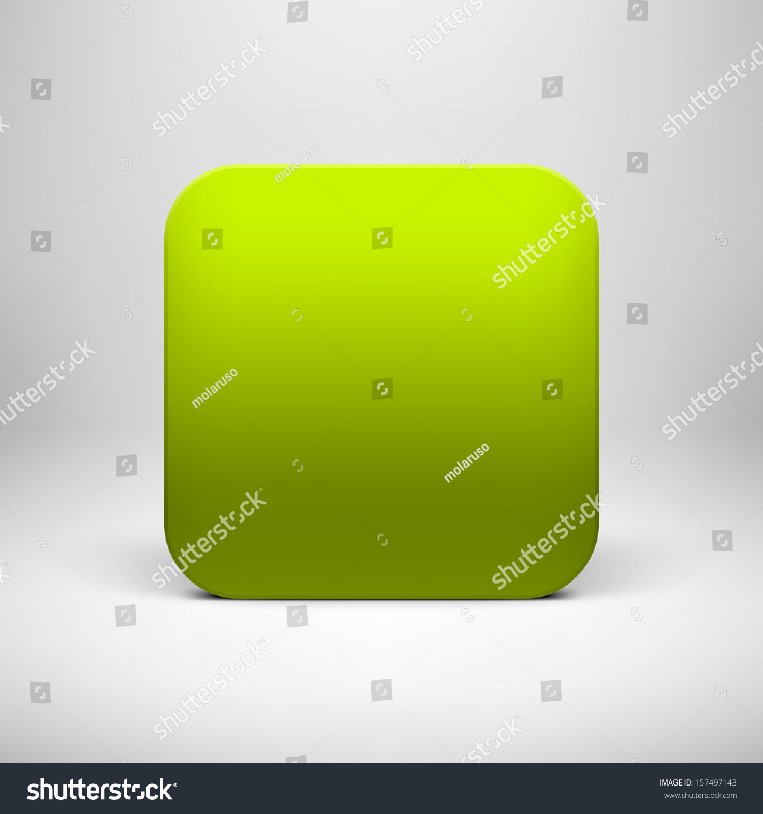 Blank Calendar Icon Green : Technology green blank app icon button template with