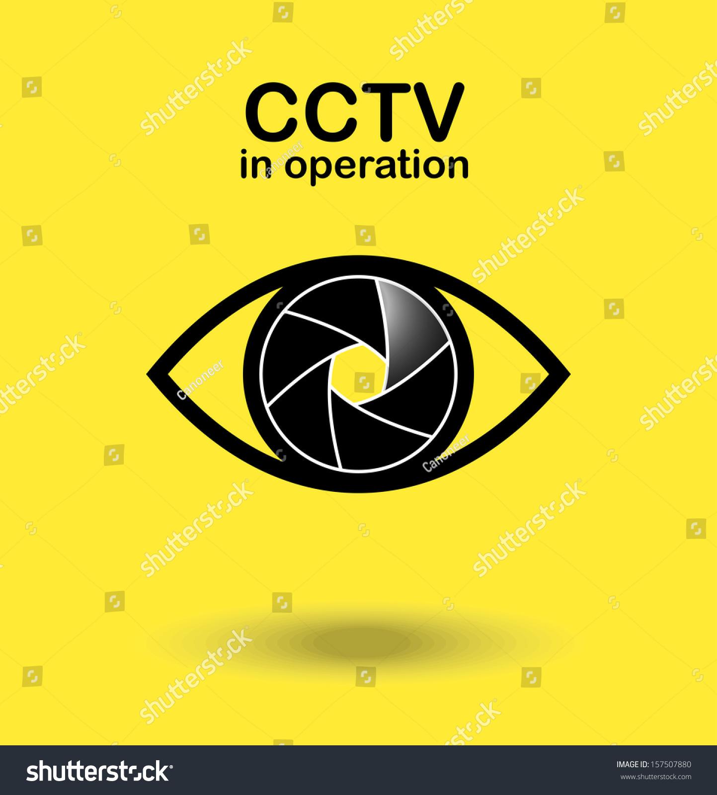 Cctv Operation Vector Illustration Stock Vector 157507880