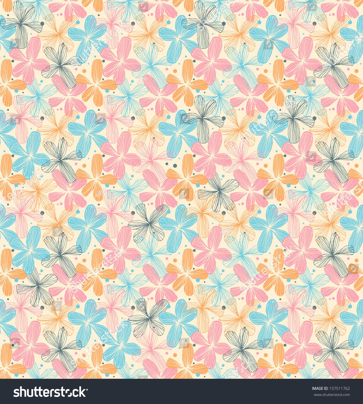 Vintage pastel pattern - photo#52