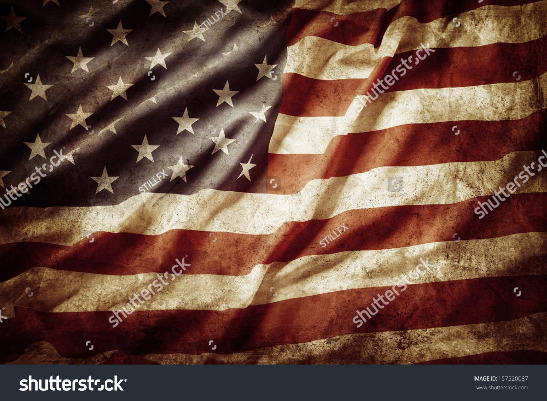 Https Www Shutterstock Com Pic 157520087 Stock Photo Closeup Of Grunge American Flag Html