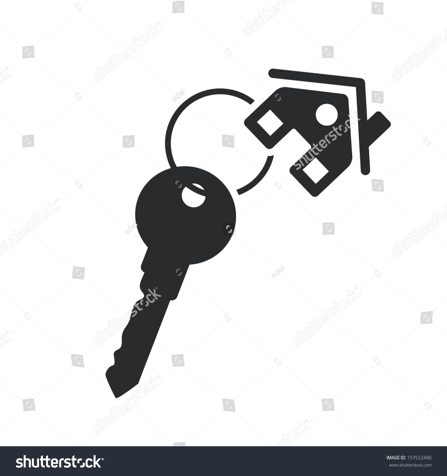 House key black web icon vector stock vector 157522490 shutterstock house key black web icon vector real estate template pronofoot35fo Images