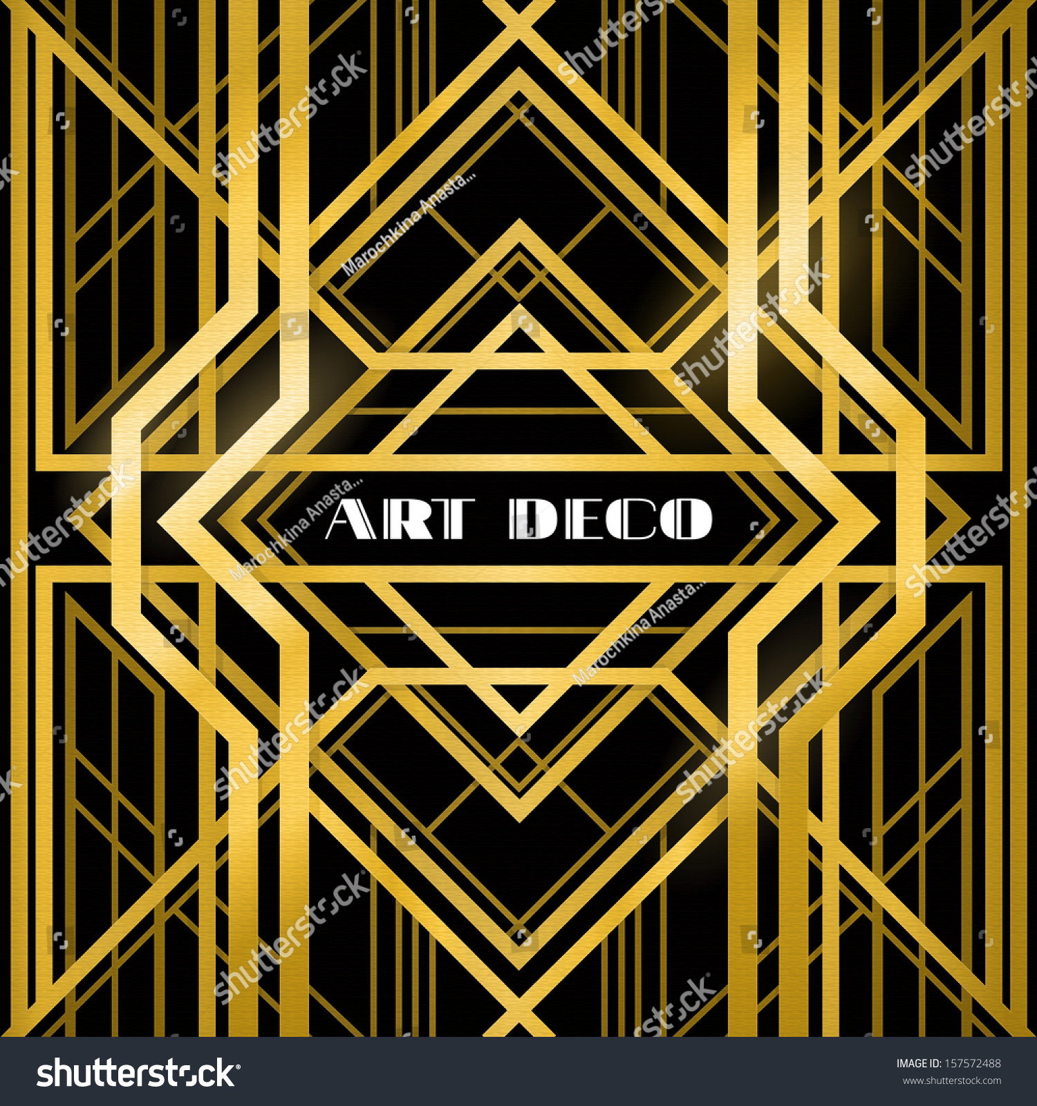 Abstract Geometric Pattern Art Deco Style Stock Vector