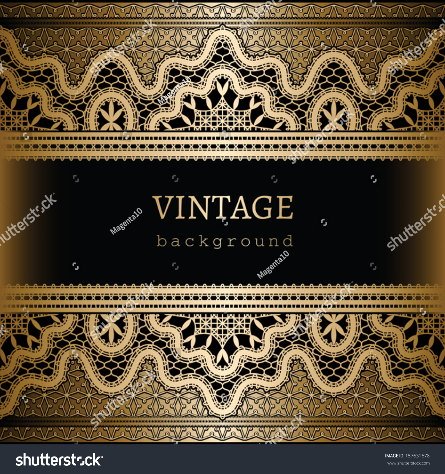 7f5ed621a8 Vintage Gold Background Ornamental Vector Frame Stock Vector ...