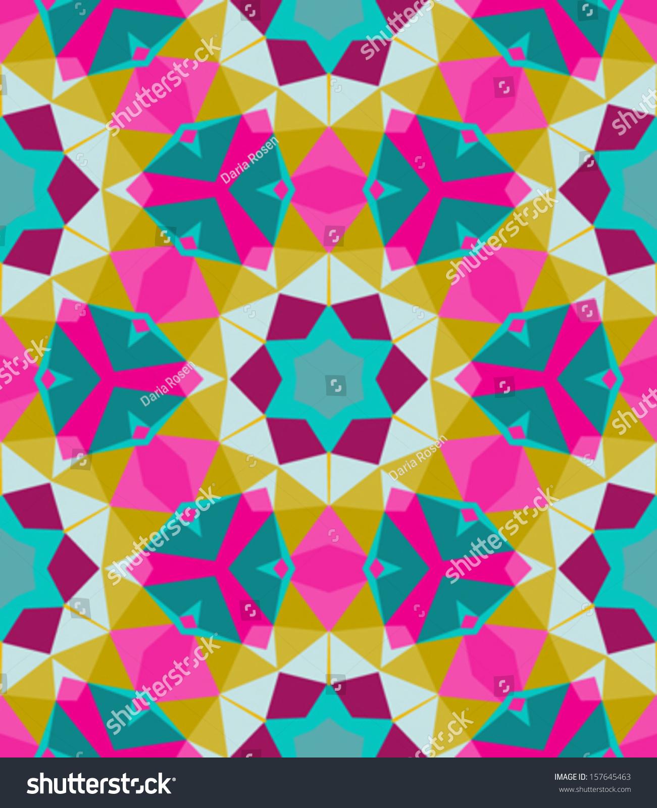 ... Multicolor geometric pattern in bright color. vector seamless