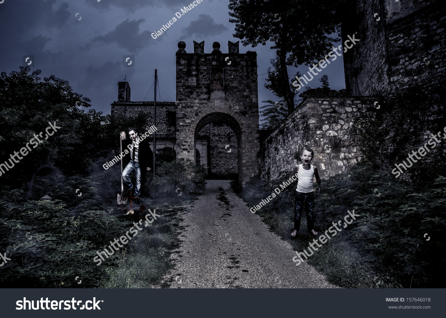 horror castle halloween collection stock photo (edit now) 157646018