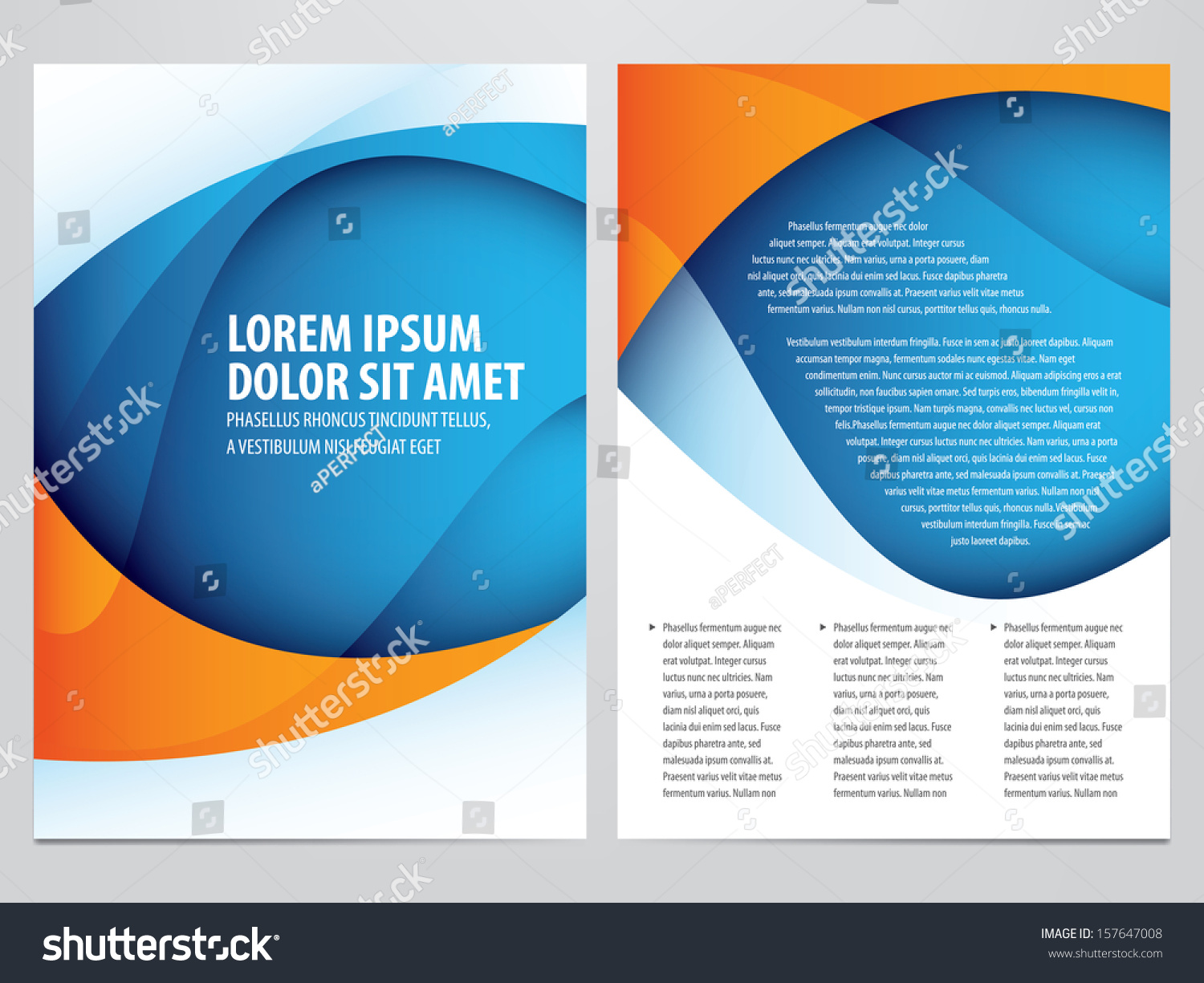 vector business brochure flyer template stock vector  vector business brochure flyer template