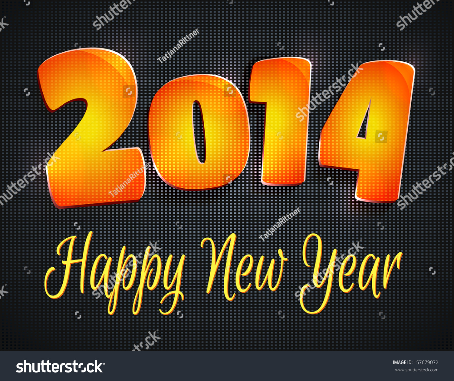 Happy new year 2014 greeting card stock illustration 157679072 happy new year 2014 greeting card m4hsunfo