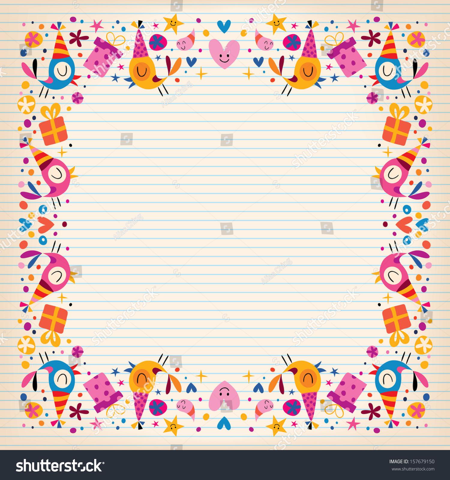 Border paper writing – Border Paper Template