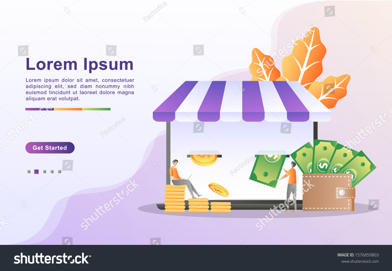 Earn Money Online Payment Concept Online Stock Vector Royalty Free 1576859803