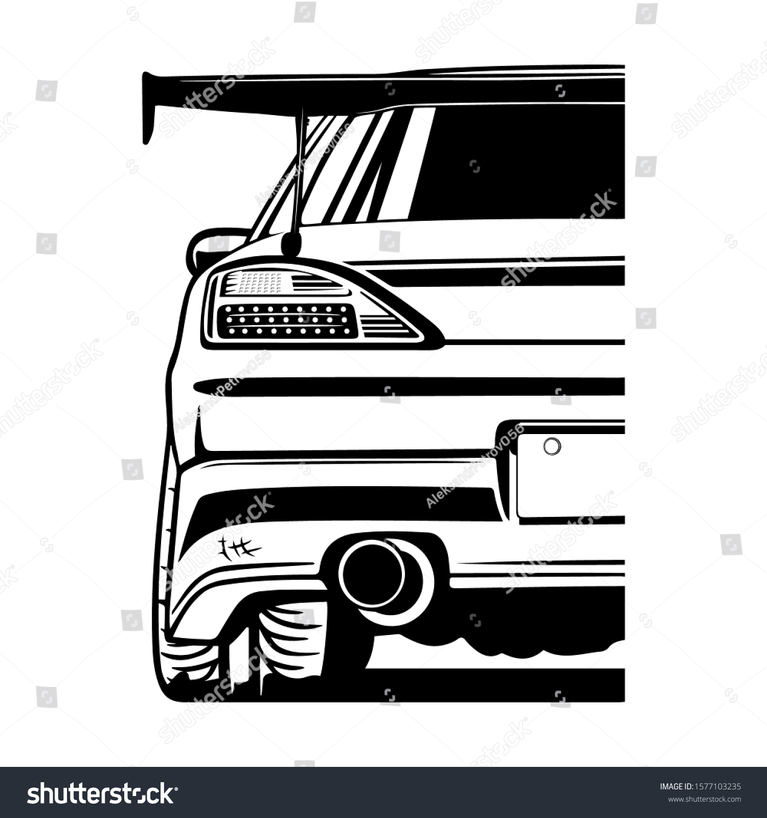 vector japans draft cars silvia s15 stock vector (royalty free) 1577103235  shutterstock