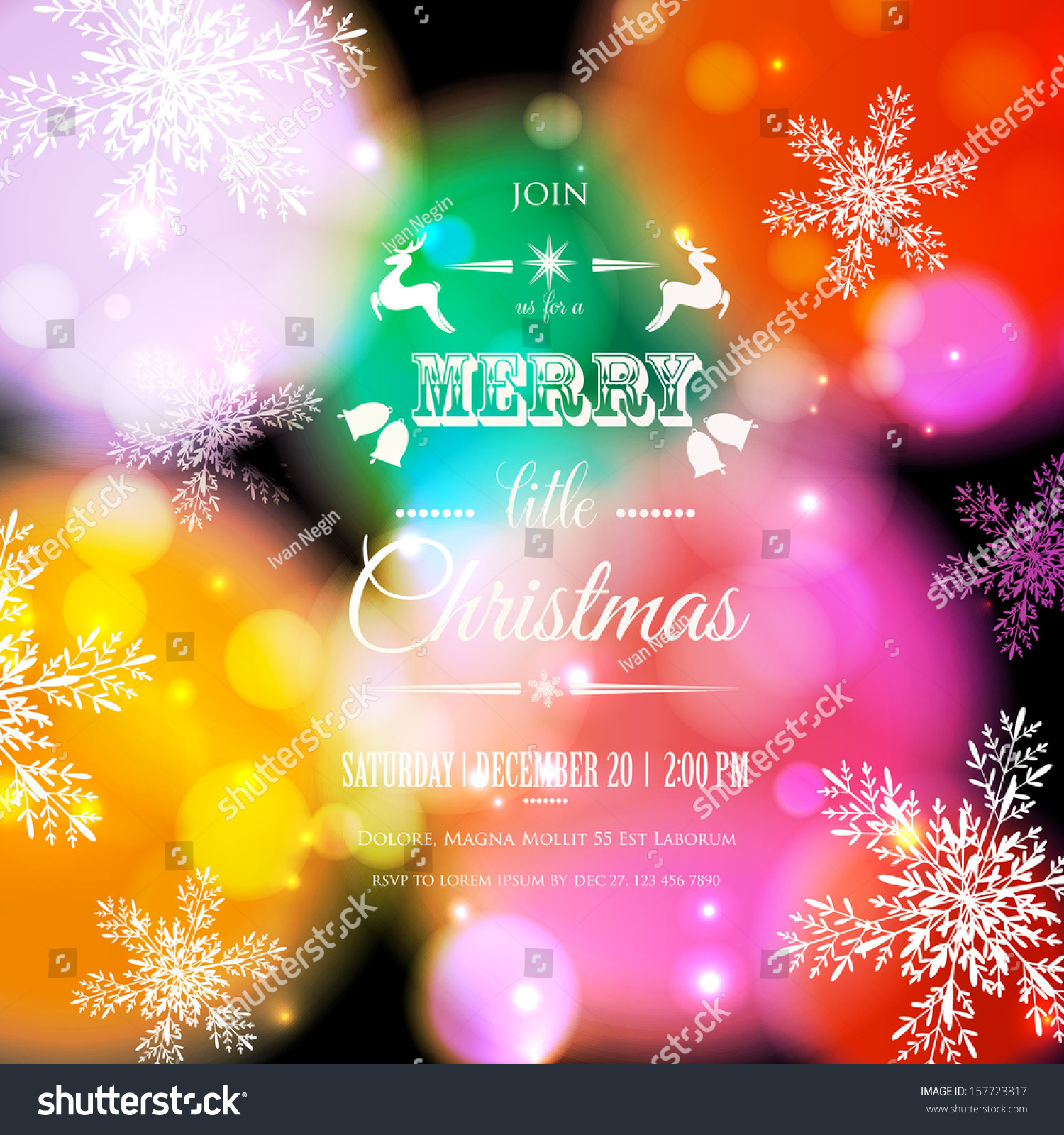 Merry Christmas Happy New Year Card Stock Vector 157723817