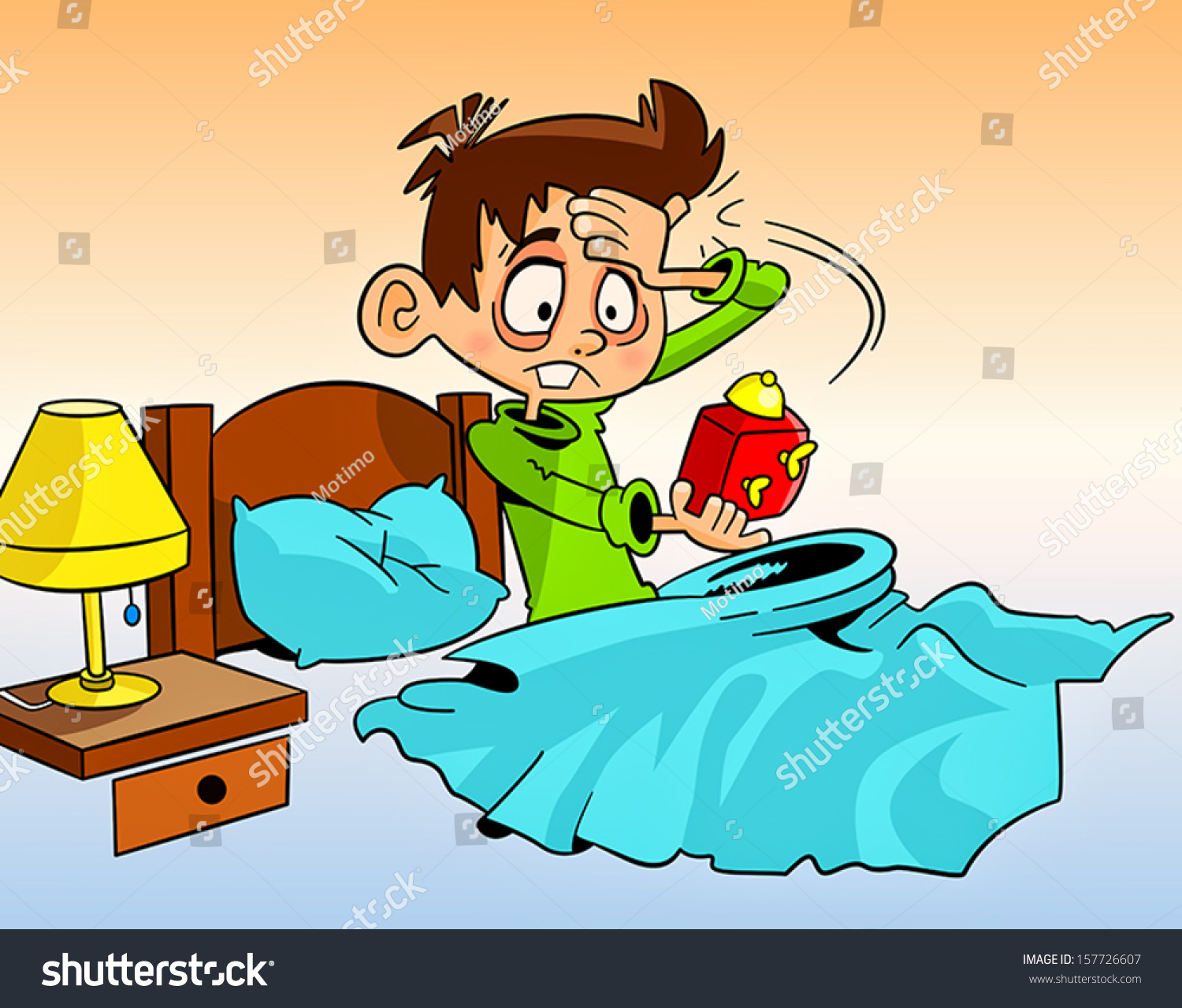 clipart of a girl waking up - photo #30