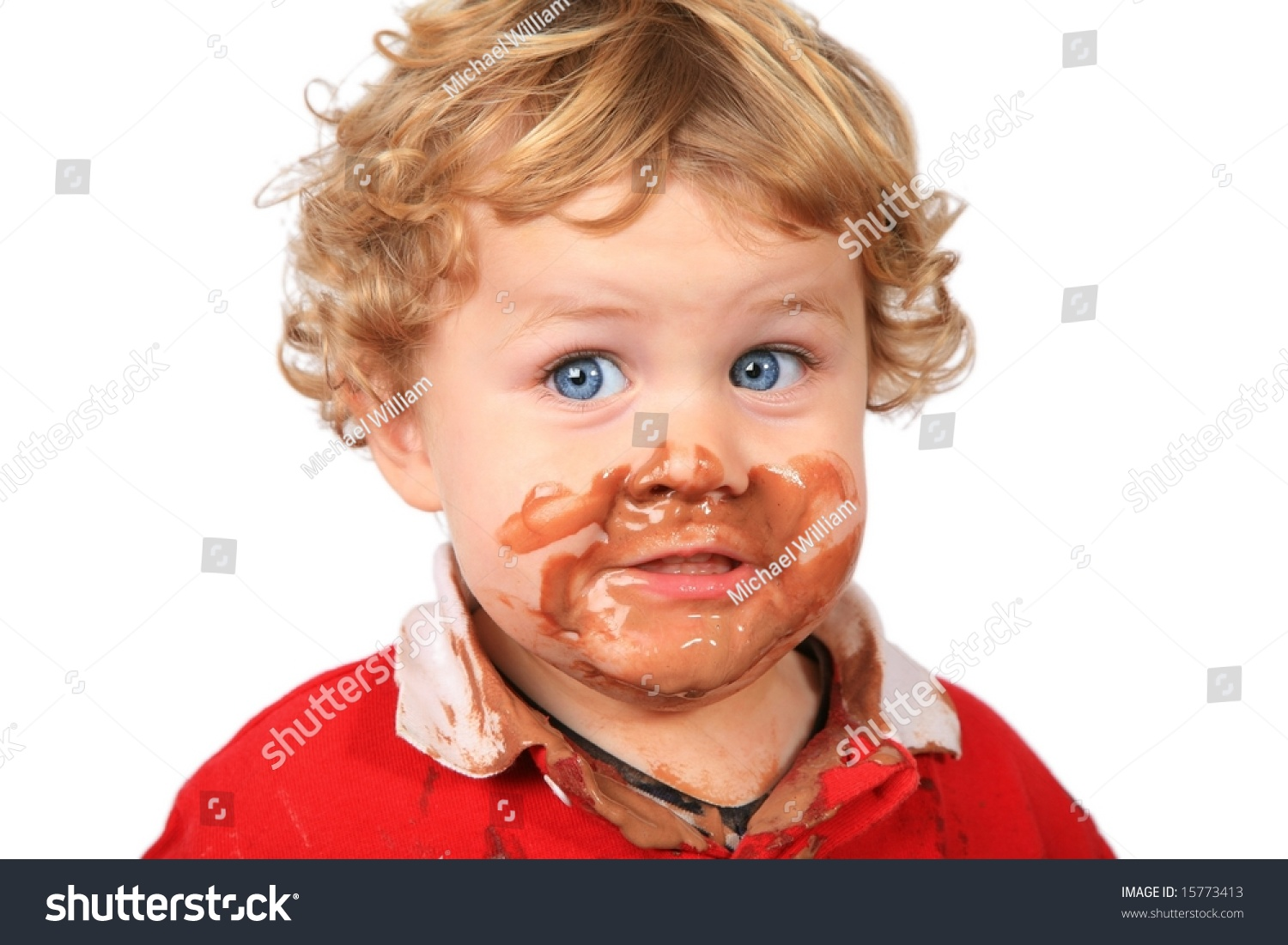 Cute Boy Chocolate Ice Cream On Stock Photo 15773413 - Shutterstock