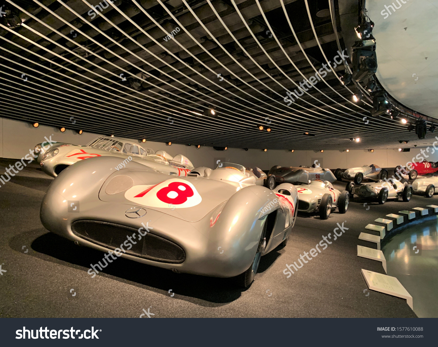 Stuttgart / Germany - 3 December 2019 : Modified racing cars from Mercedes. Mercedes concept cars, cars of the future.