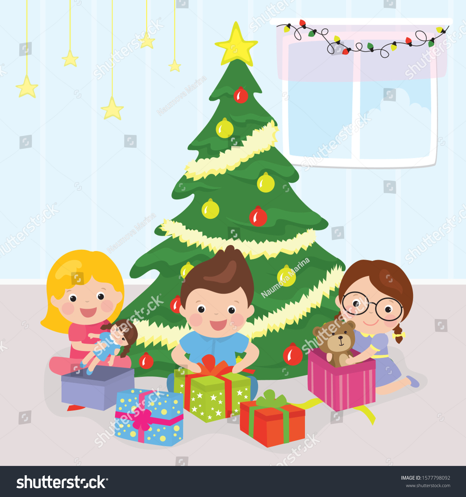 Christmas Tree Presents Three Cartoon Happy Stock Vector Royalty Free 1577798092 Choose from 1700+ cartoon tree graphic resources and download in the form of png, eps, ai or psd. https www shutterstock com image vector christmas tree presents three cartoon happy 1577798092