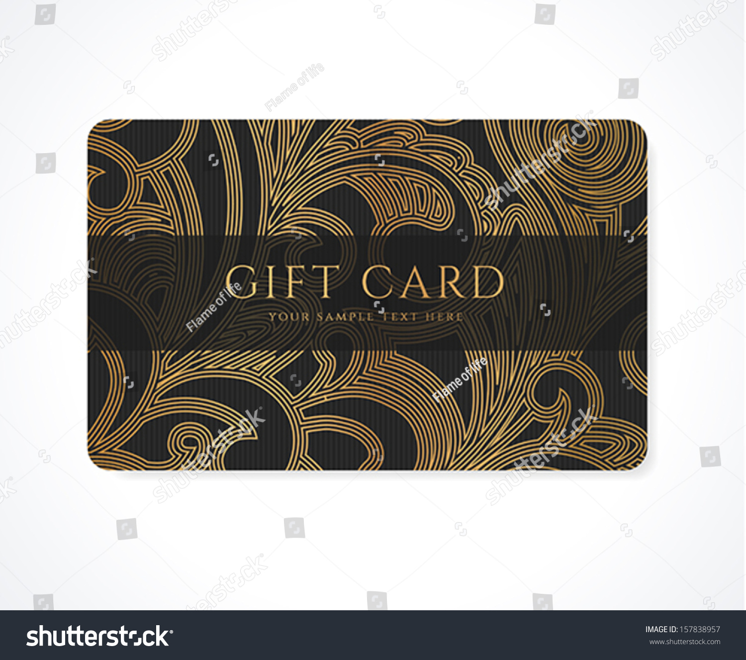 Gift Card Discount Card Business Card Stock Vector