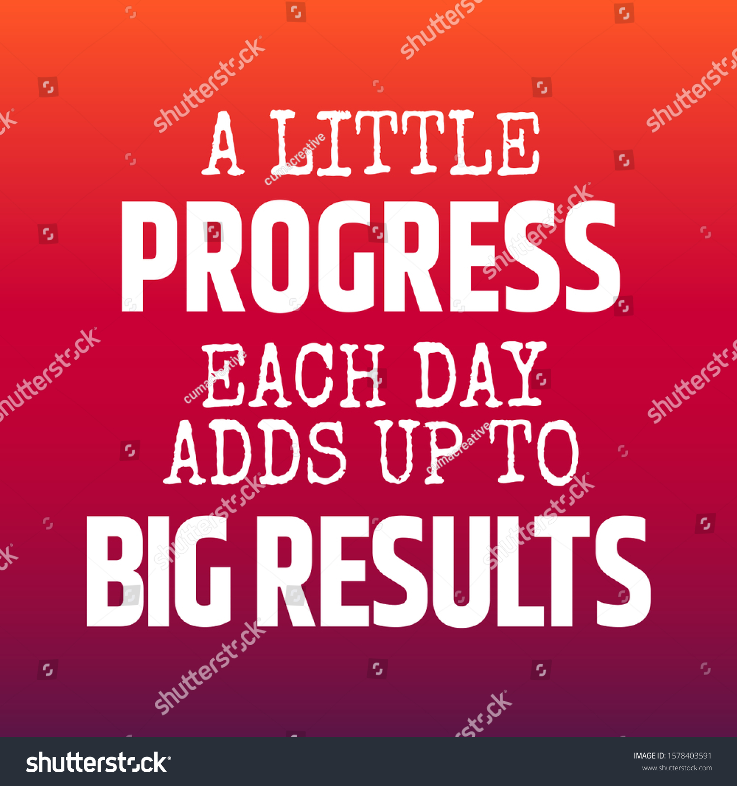 Fitness Motivational Quotes Athletes Little Progress Stock Vector Royalty Free 1578403591